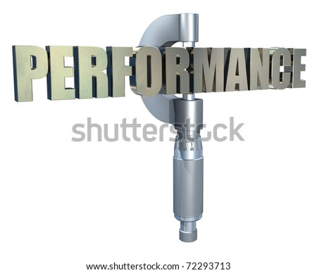 Measuring or gauging performance - stock photo