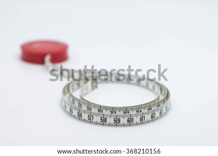 measuring tape concept for weight loose background