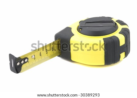 Measuring tape for various works isolated - stock photo