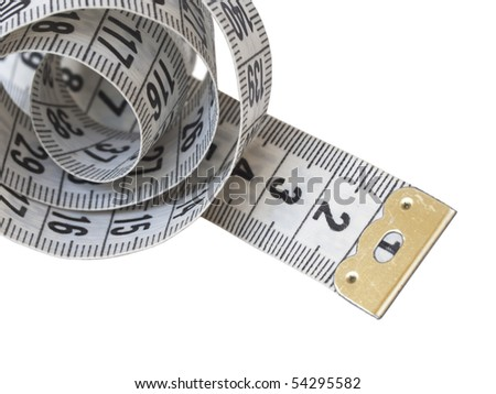measuring tape isolated - stock photo