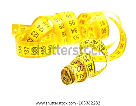 Measuring tape isolated on a white background