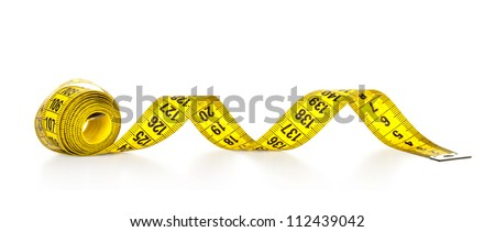 Measuring tape isolated on a white background - stock photo