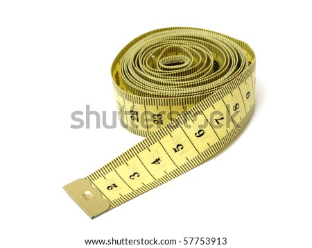measuring tape,isolated on white