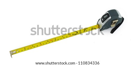 measuring tape on white background