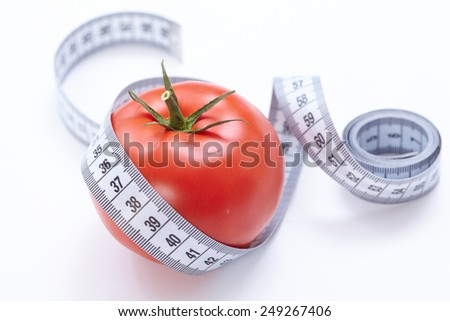 Measuring tape with tomato