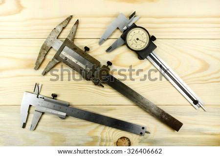 Measuring tool caliper - stock photo