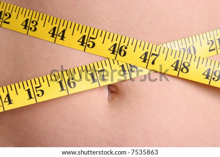 Measuring Waist - stock photo