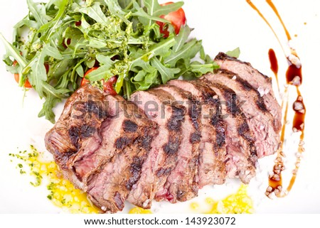 Meat and salad