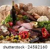 Meat assortment composition - stock photo