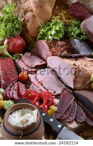 Meat assortment composition