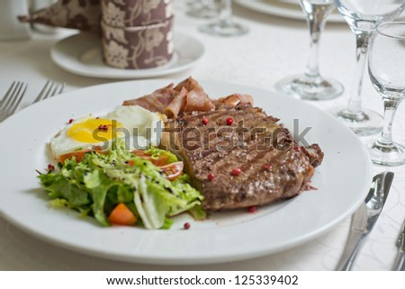 Meat, beefsteak - stock photo