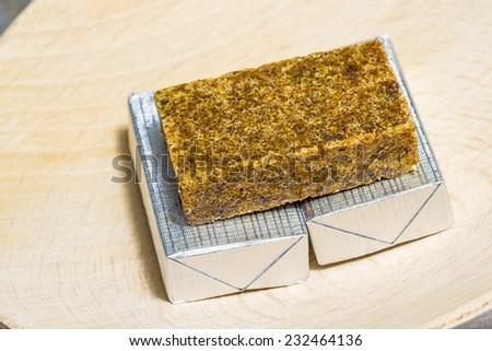 meat bouillon cube - stock photo