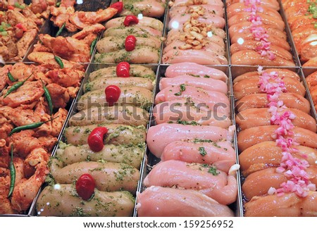 meat counter - stock photo