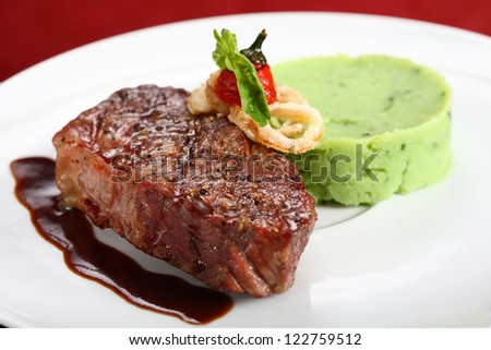 meat dish - stock photo