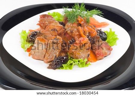 Meat of the rabbit  isolated - stock photo