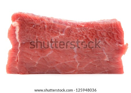Meat on a white background - stock photo