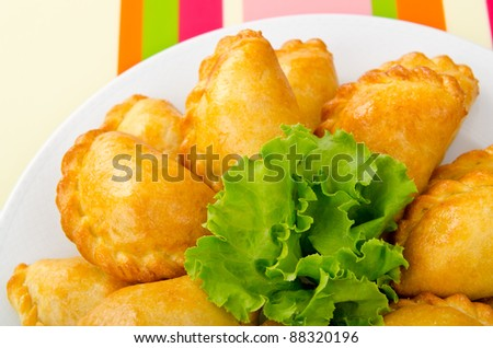 Meat patties in the plate - stock photo