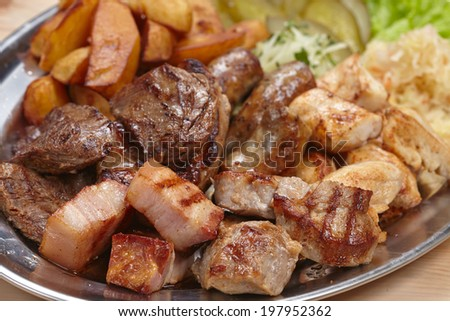 meat with cabbage and potatoes