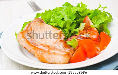 meat with vegetable