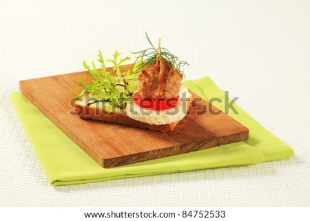 Cocktail meatballs stock images royalty free images for Meatball canape
