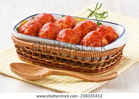 Meatballs with tomato sauce  - stock photo