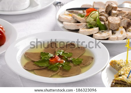 meats on table - stock photo