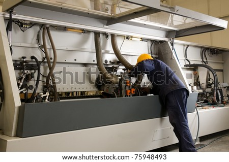 Mechanic at factory