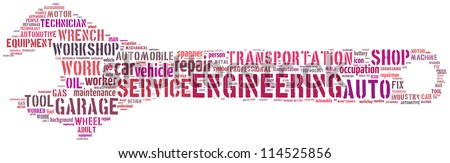Mechanic info-text graphics composed in spanner shape concept on white background - stock photo