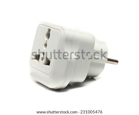 mechanical adapter from English into European outlet