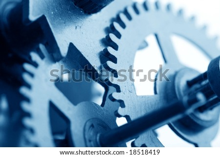 mechanical clock - stock photo