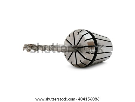 Mechanical cutting tools for turning operations on white background - stock photo