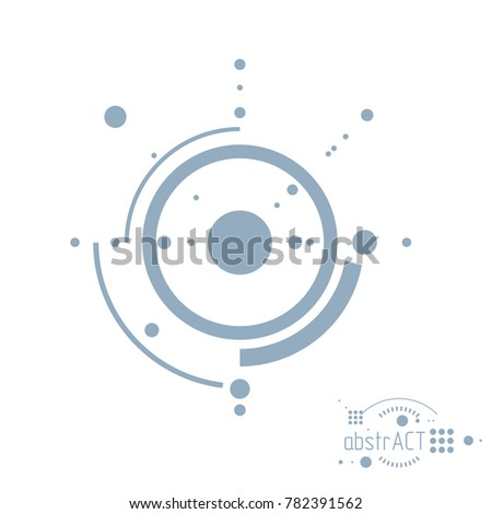 Mechanical Scheme Engineering Drawing Circles Geometric Stock