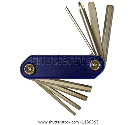 Mechanical tool, isolated - stock photo