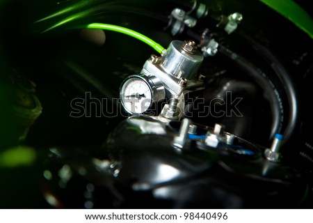 mechanical vehicle compressor - stock photo