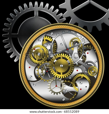 mechanical watches - stock photo