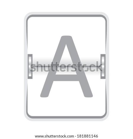 Mechanical white scoreboard - stock photo