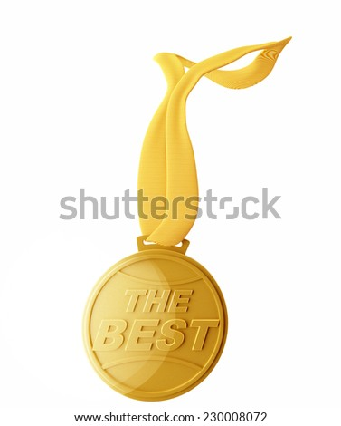 Medal - Gold.The Best - stock photo