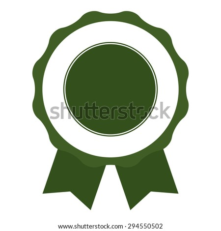 Medal, Ribbon, Label, Sticker, Banner, Sign or Icon Isolated on White Background - stock photo