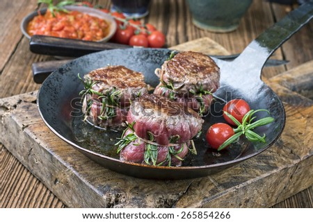 Medallion of Beef Fillet - stock photo