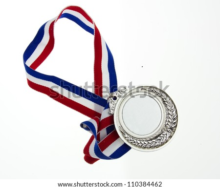 Medals and ribbons isolated on a white background - stock photo