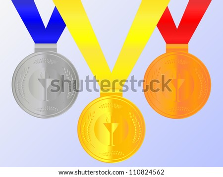 Medals Set 2 - stock photo
