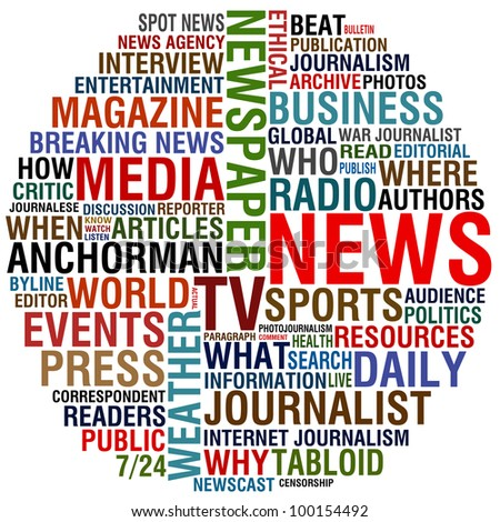 media and news - stock photo