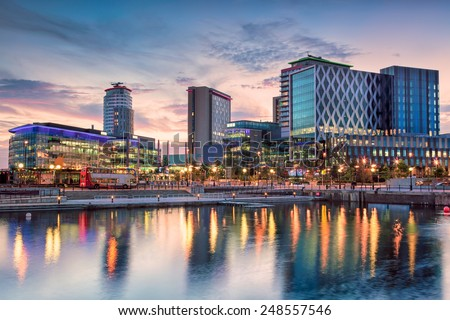 Media City at Salford Quays - stock photo