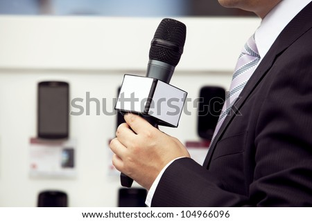 Media interview - stock photo