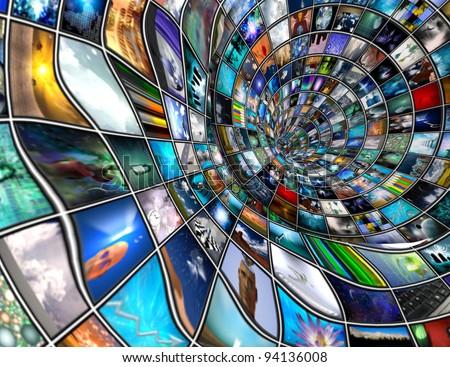 Media Pipeline - stock photo