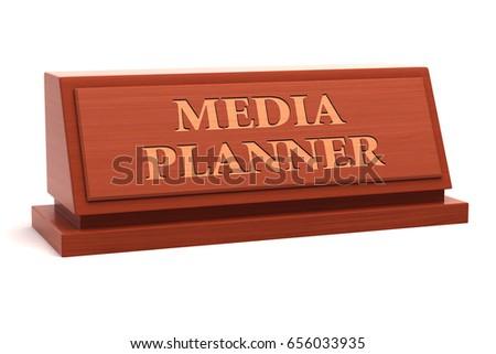 Media Planner Job Title On Nameplate Stock Illustration 656033935 ...