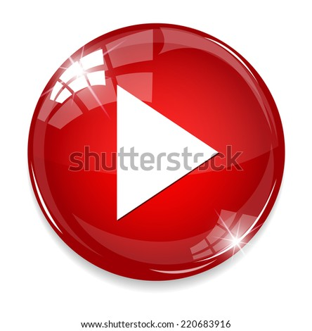 Media player button - stock photo