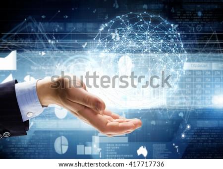 Media worldwide technology concept - stock photo