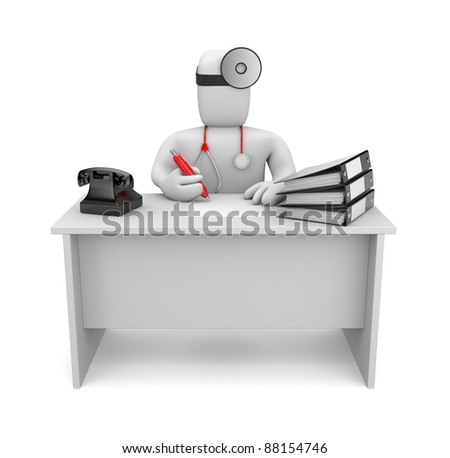 Medic at work. Image contain clipping path - stock photo