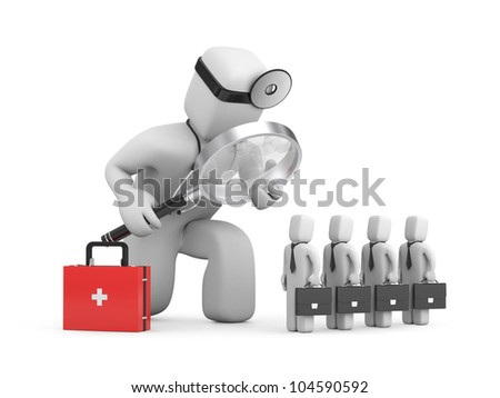Medic exploration business. Image contain clipping path - stock photo